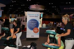 trade show chair massage